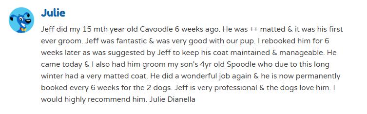 mobile dog groomer, dog grooming reviews, grooming reviews, blue wheeler reviews, reviews for blue wheeler, good groomer reviews, mobile dog grooming